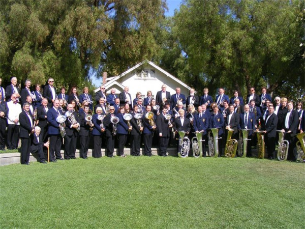 Clifton & Lightcliffe Senior Band with Golden State Band